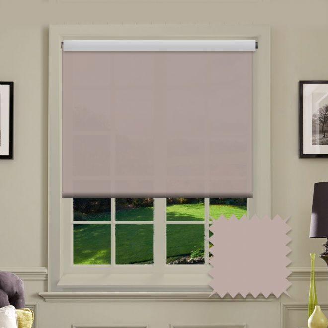 Light Pink Roller Blind - Astral Hint Plain - Just Blinds